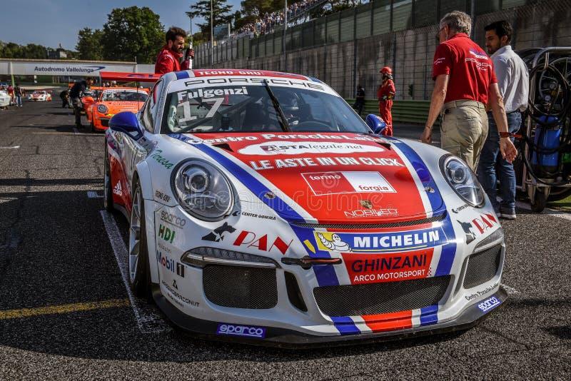 Vallelunga Rome, Italien Juni 24 2017 Italienare Porsche Carrera C royaltyfri bild