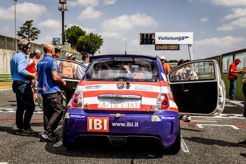 Vallelunga Rome, Italien Juni 25 2017 Trofeo Abarth selen, Fi royaltyfria bilder