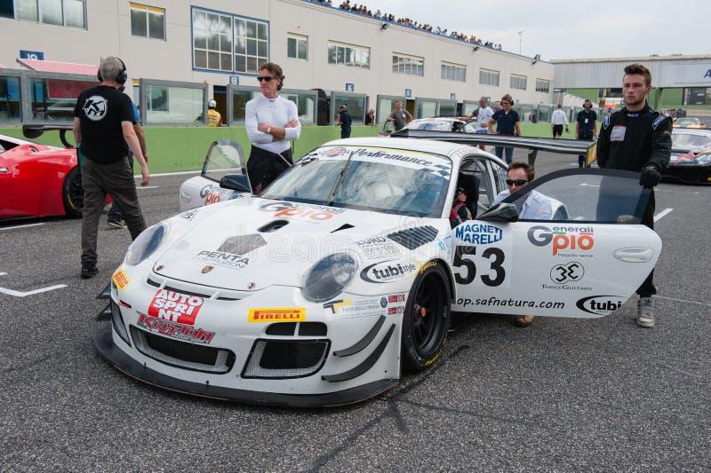 Vallelunga Rome, Italien September 10th 2016 Porsche 911 på sta royaltyfri foto