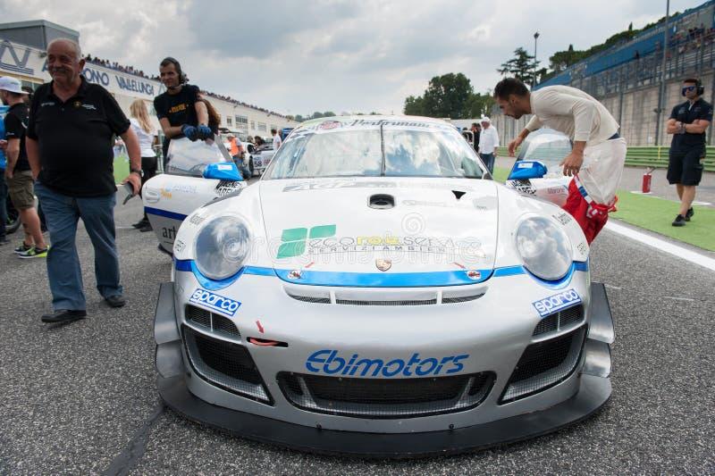 Vallelunga Rome, Italien September 10th 2016 Porsche 911 på sta arkivfoton