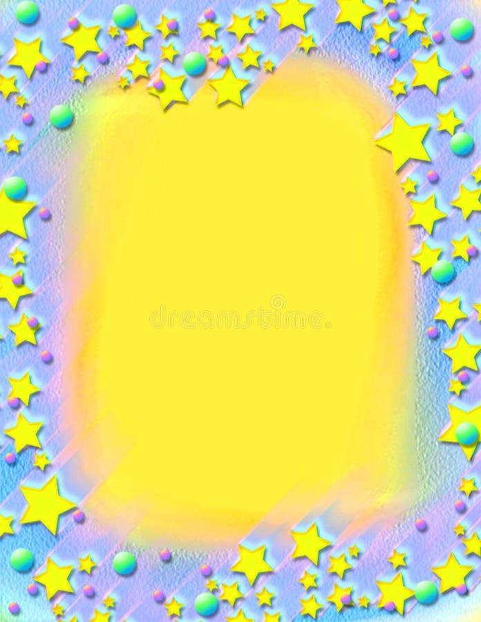 Vallend sterren geschilderd frame royalty-vrije stock foto's