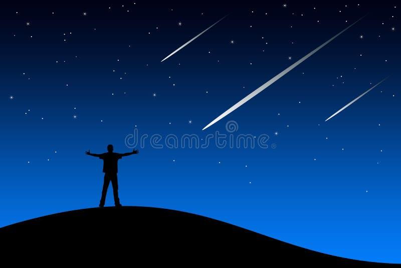 Vallende ster vector illustratie