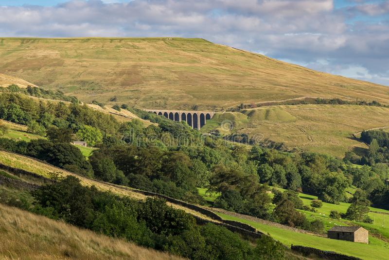 Valles cerca de Cowgill, Cumbria, Reino Unido de Yorkshire fotos de archivo