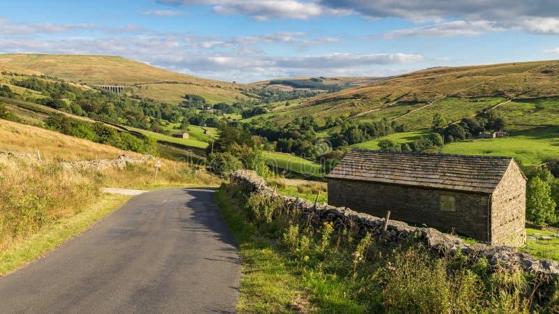 Valles cerca de Cowgill, Cumbria, Reino Unido de Yorkshire imágenes de archivo libres de regalías