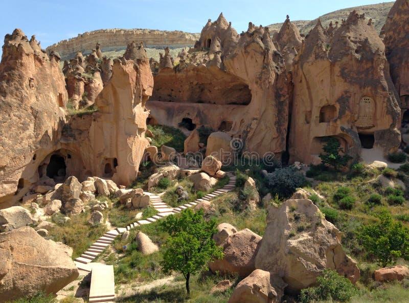 Valles de piedra de Cappadocia imagen de archivo