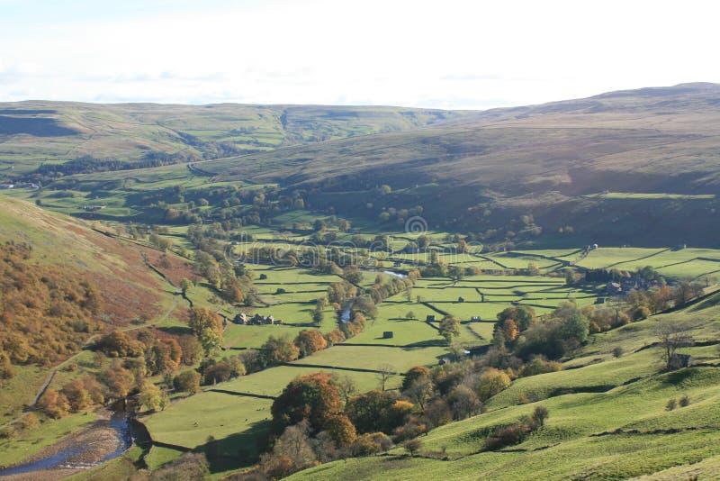 Valles de Yorkshire fotos de archivo libres de regalías