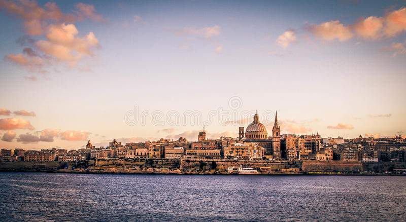 Valleta日落 免版税库存照片