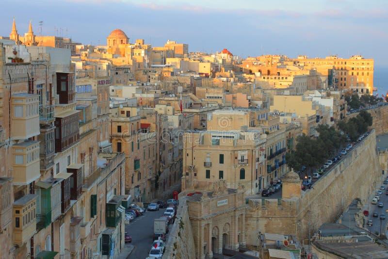 Valleta, capital de Malta imagenes de archivo