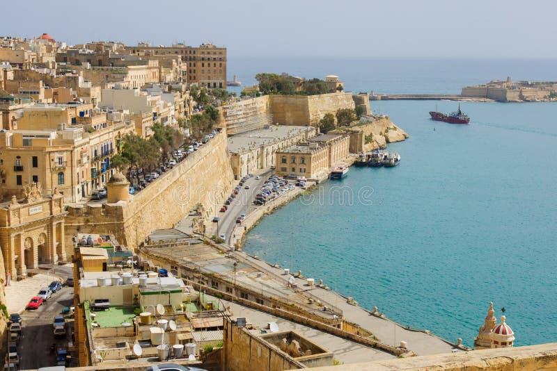 Valleta gammal stad fotografering för bildbyråer