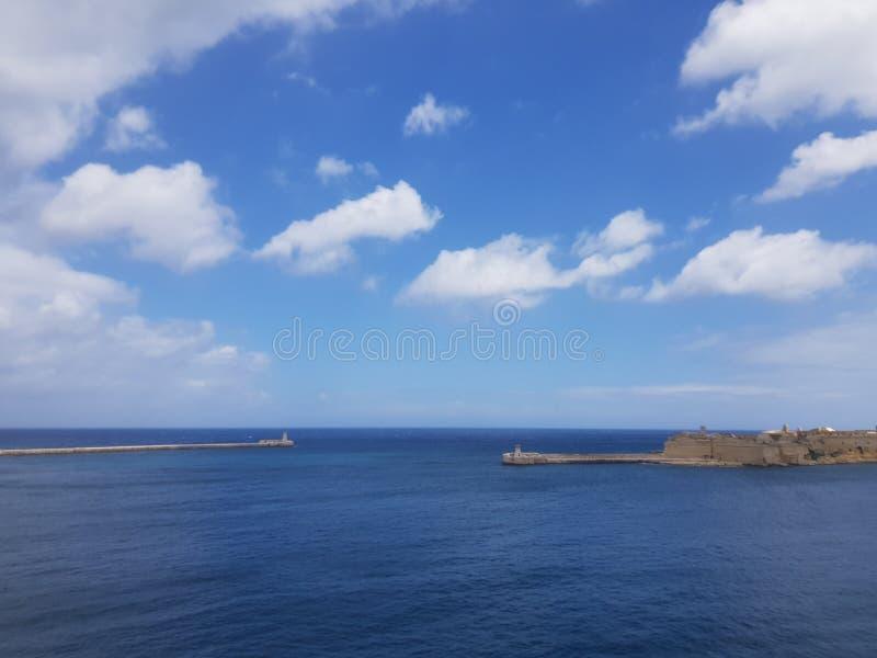 Valletta, Μάλτα, seaview στοκ φωτογραφίες
