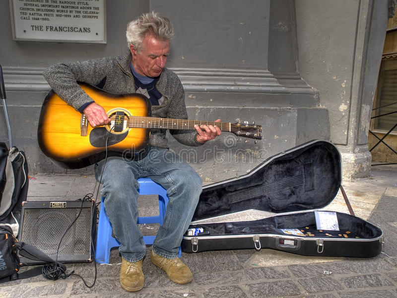 Download Valletta Busker Editorial Stock Photo - Image: 13688608