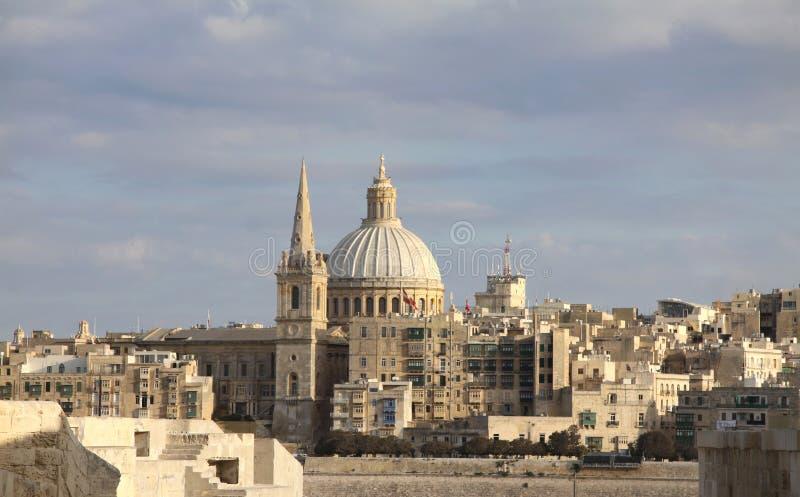 Valletta cityscape stock photography