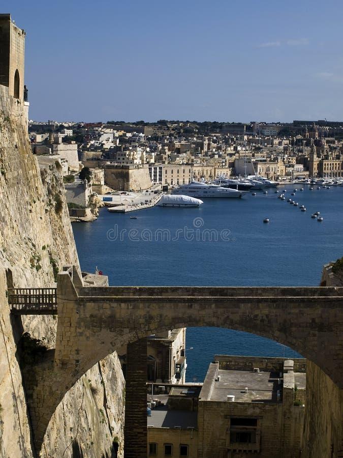 Free Valletta Ditch And Bridge Stock Image - 8432191