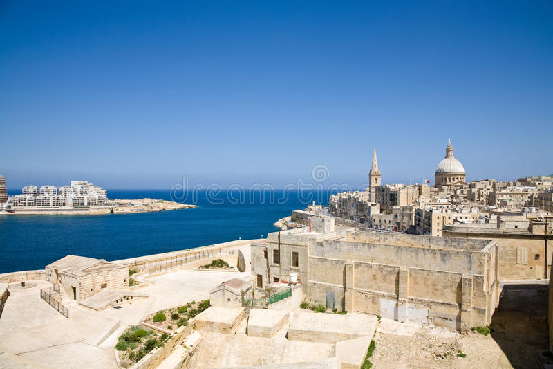 Valletta en Sliema, Malta royalty-vrije stock fotografie