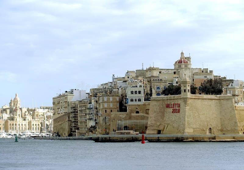 Valletta 2018, europeisk kulturhuvudstad royaltyfri foto