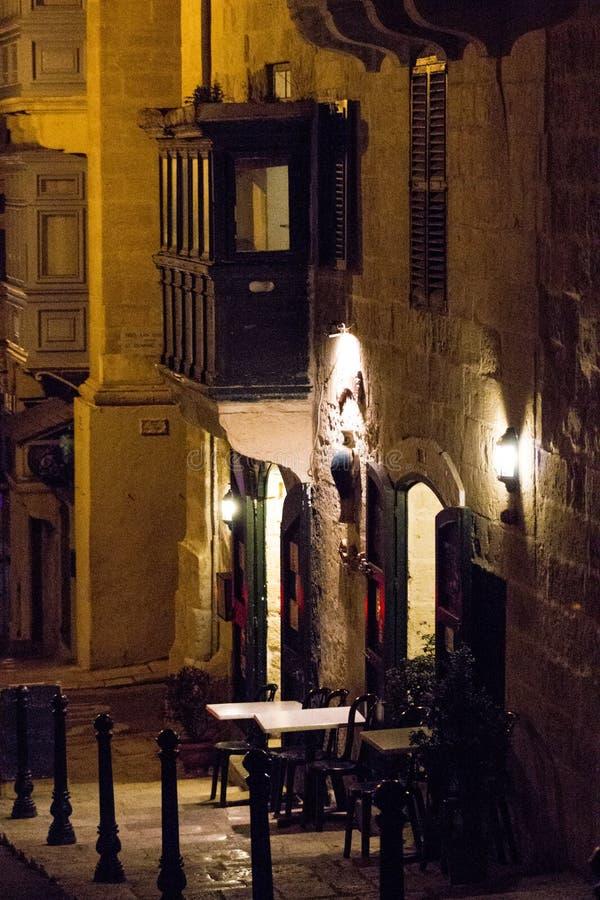 Valletta gata fotografering för bildbyråer