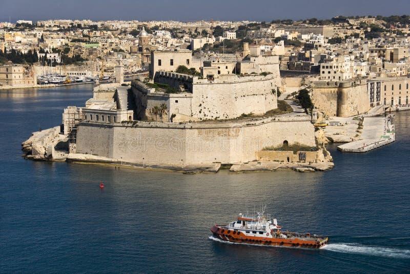 Valletta - großartiger Hafen - Malta lizenzfreies stockfoto
