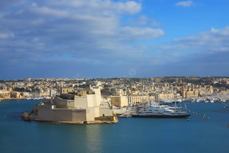 Valletta-Hafen, Malta lizenzfreies stockbild