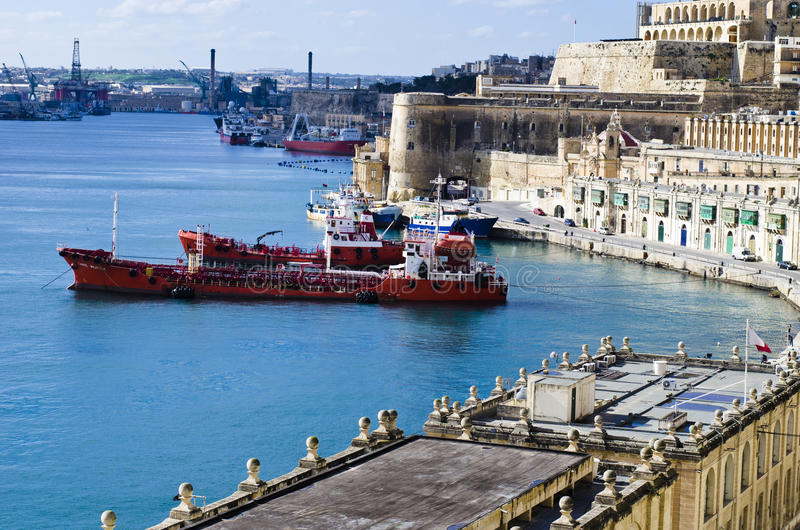 Valletta Harbor, Malta royalty free stock image