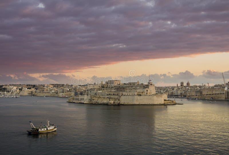 Valletta L'Isla royaltyfri foto