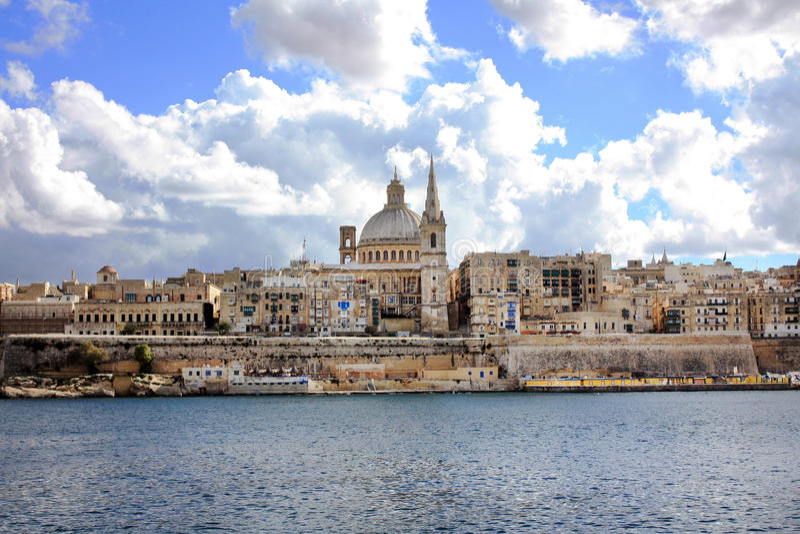 Valletta Malta arkivbilder