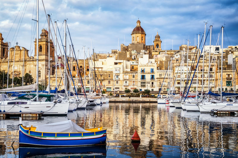 Valletta - malta royaltyfri foto