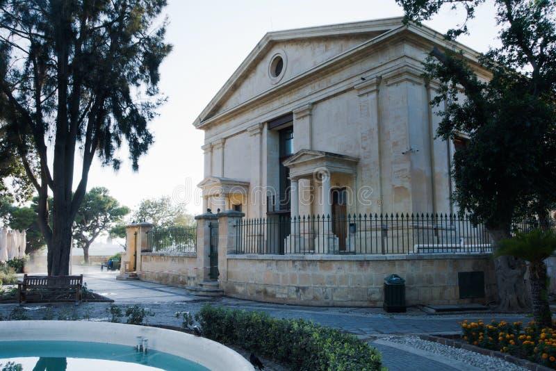 Valletta, Malta, August 2019. Opera building in the Upper Gardens of Baraka stock photos