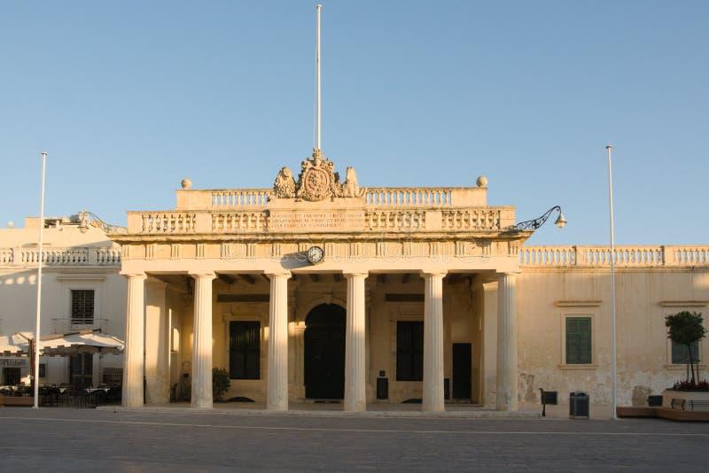 Valletta, Malta, augusti 2019 Main Guard-byggnaden arkivfoto