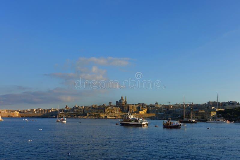 Valletta Malta Harbor View royalty free stock images
