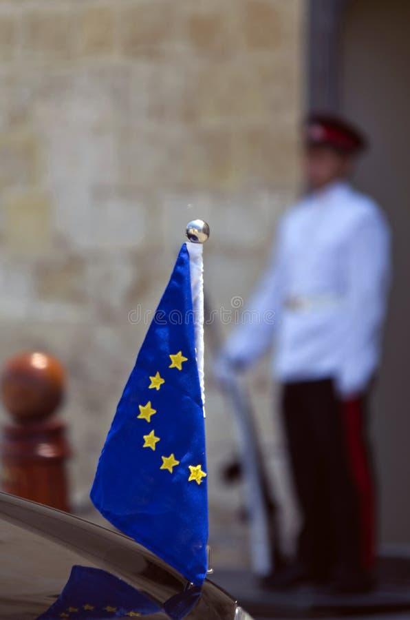 Valletta, Malta – Juli 11: Herman Van Rompuy bezoekt Malta royalty-vrije stock fotografie