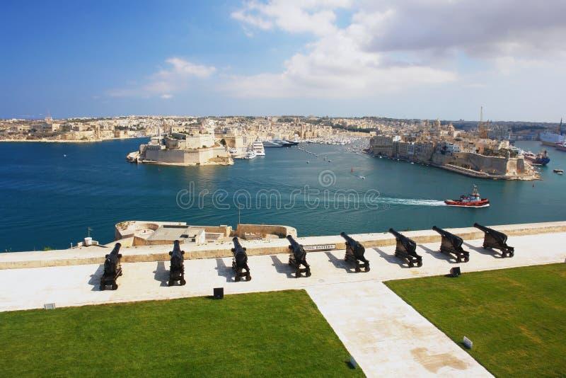 Valletta, Malte image stock