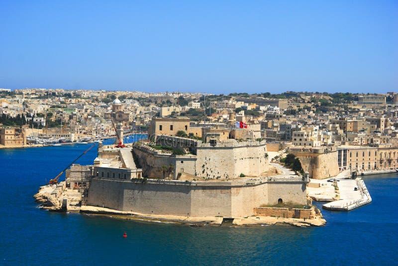 Valletta old town coastline, Malta stock photos