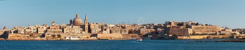 Valletta panorama, Malta, EU royaltyfri foto