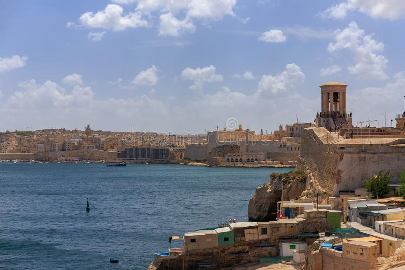 Valletta schronienia Uroczysty wejście fotografia royalty free