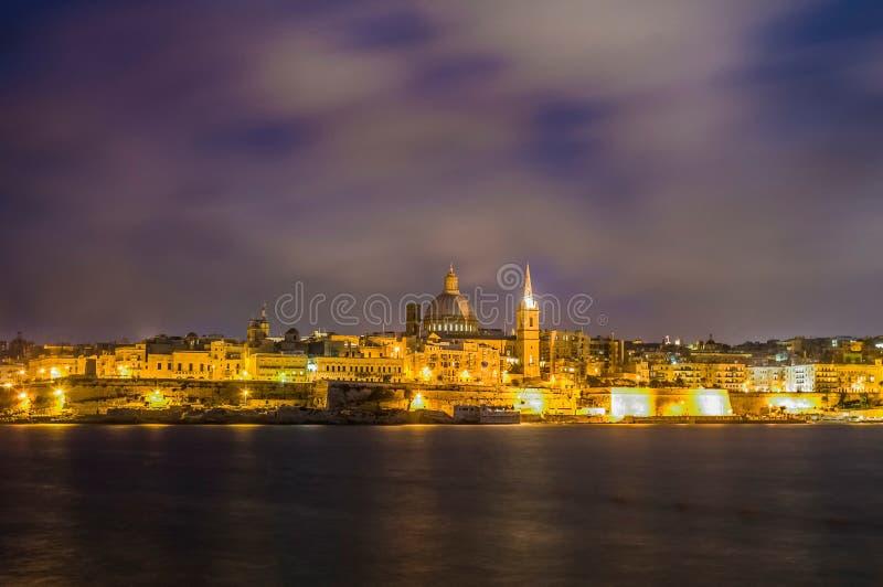 Valletta-Seeseite-Skylineansicht, Malta stockfoto