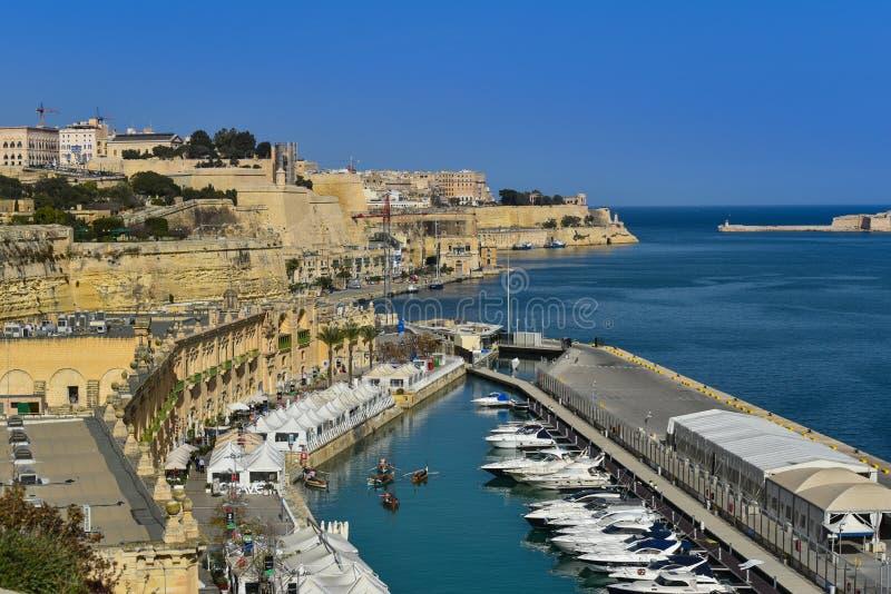 Valletta storslagen hamn Malta royaltyfri foto