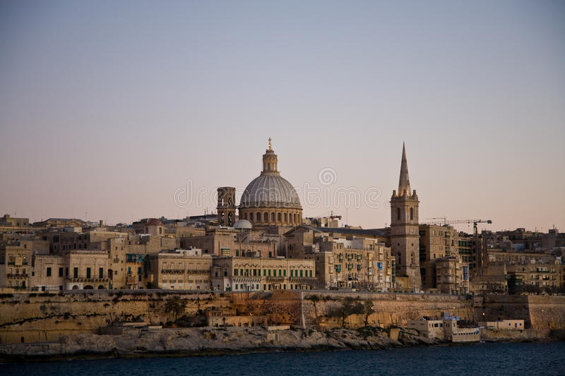 Download Valletta Sunset, Malta Royalty Free Stock Images - Image: 24464219