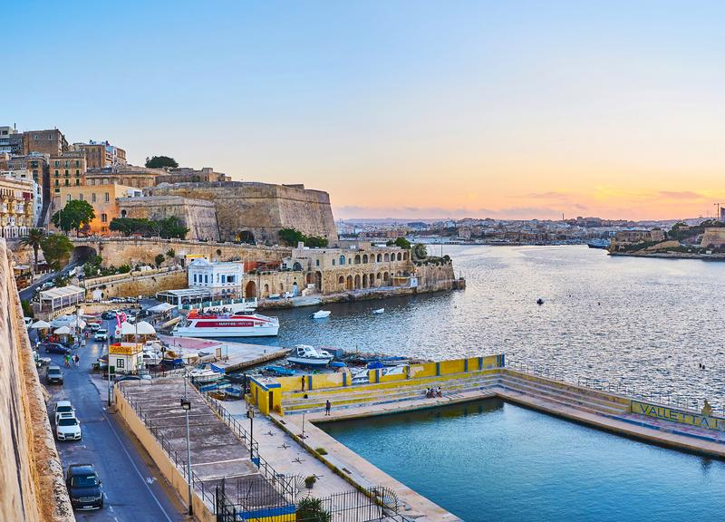 Valletta-Wasser Polo Club, Malta lizenzfreies stockbild