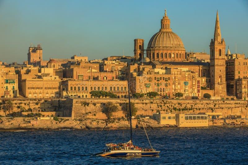 Valletta zmierzch obraz stock