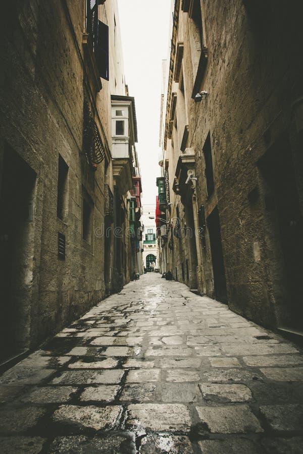 Vallettastraat stock foto