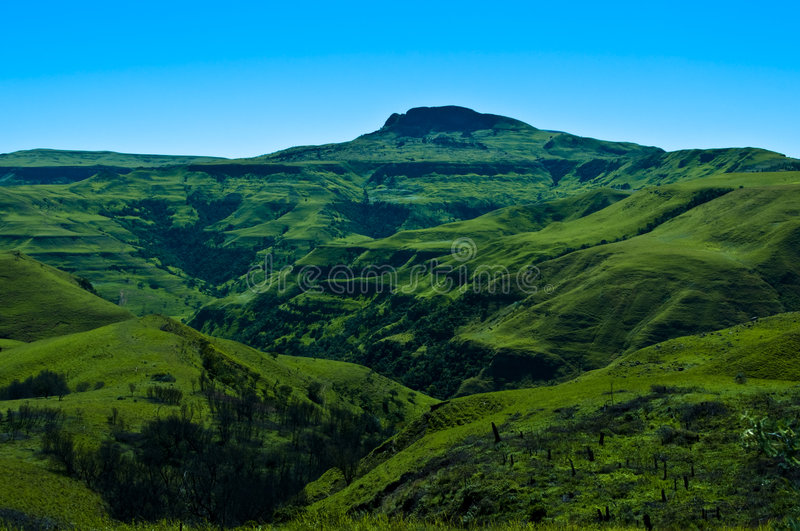 Valley of 1000 hills. The valley of 1000 hills in the Drakensburg mountains in Kwazulu Natal, South Africa royalty free stock photos