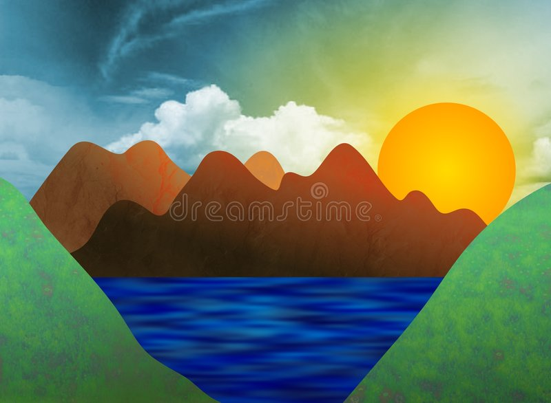 Valley stock illustration