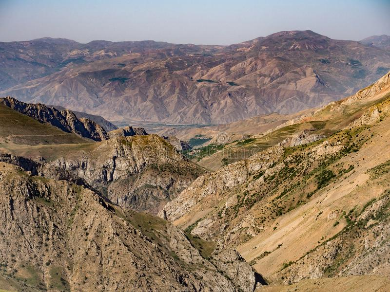 The Valley of the Assasins Alamut Valley in Iran stock photo
