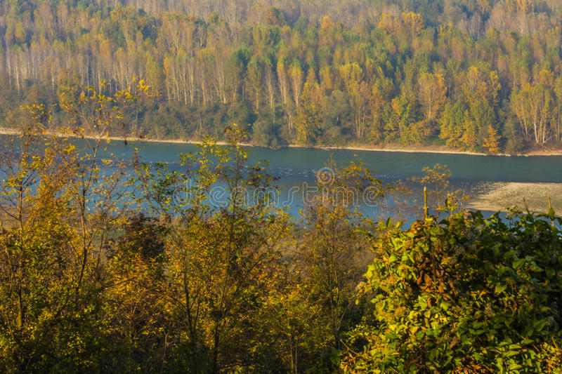 THE VALLEY IN THE AUTUMN stock photography