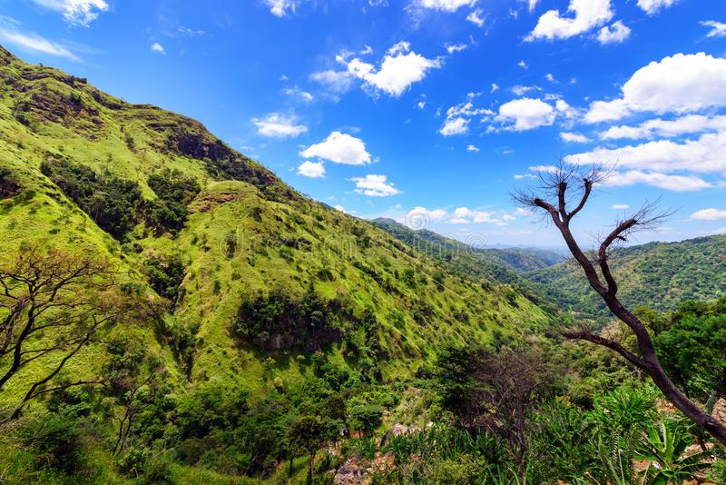 Valley below Little Adam`s Peak near Ella, Sri Lanka royalty free stock photo