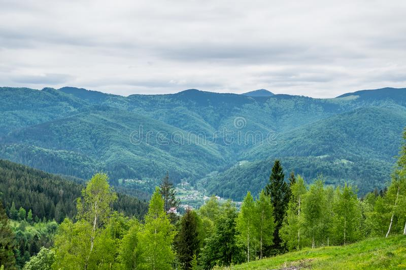 Carpathians landscape stock photo