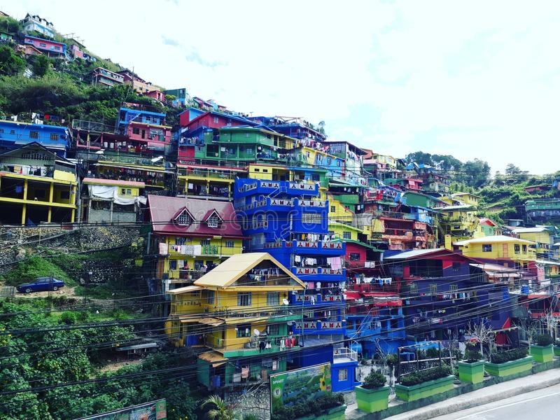 valley of color in la trinidad benguet in baguio stock image