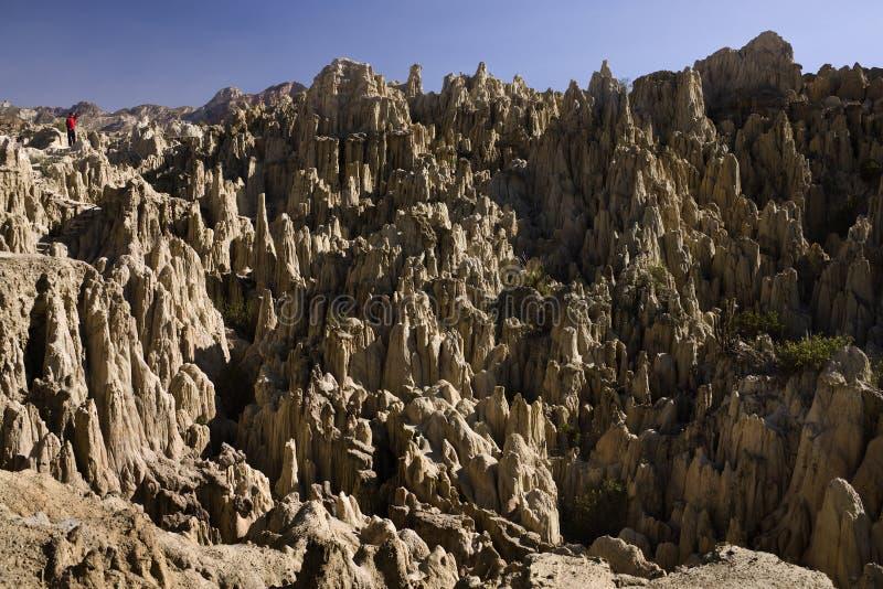 Valley de Λα Luna (κοιλάδα φεγγαριών) - Λα Παζ - Βολιβία στοκ εικόνες με δικαίωμα ελεύθερης χρήσης