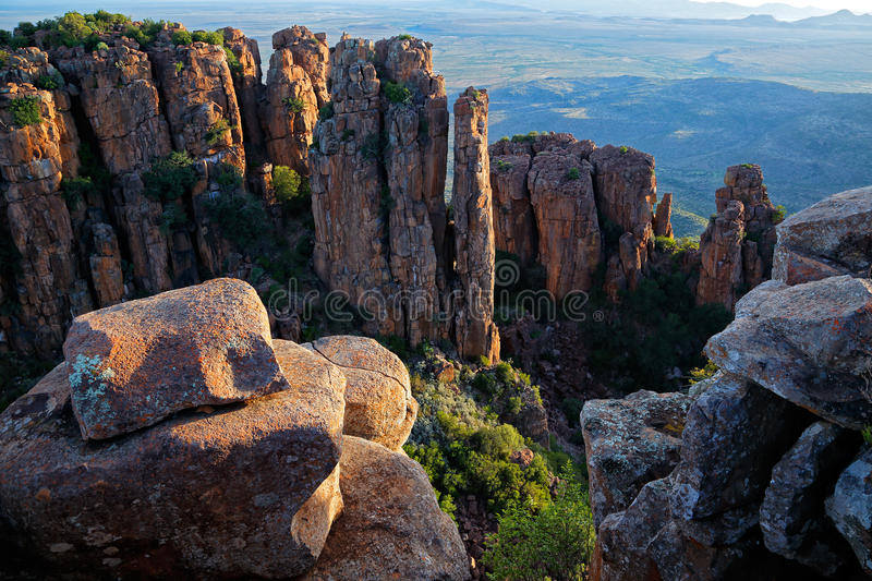 Valley of desolation. Camdeboo National Park, South Africa royalty free stock image