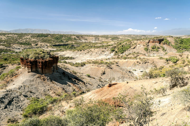 Valley with excavations Tanzanite royalty free stock photo